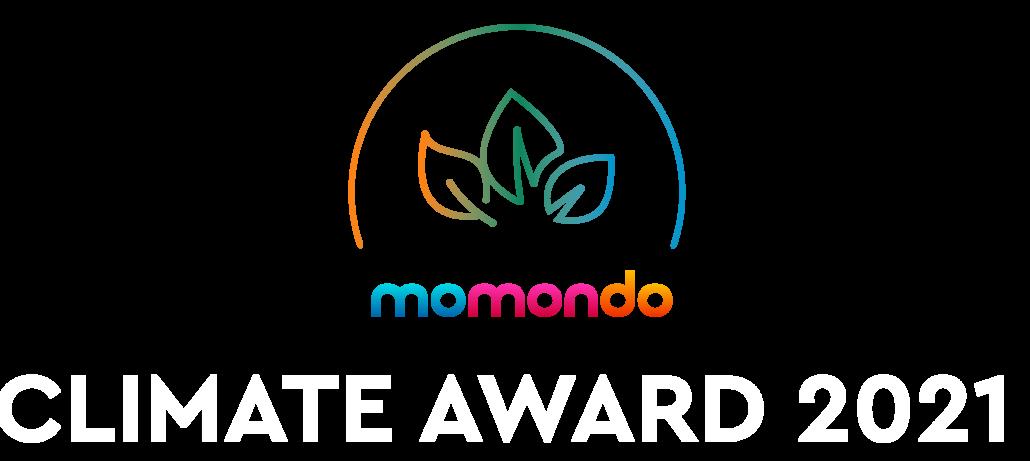Momondo Climate Award 2021 logo
