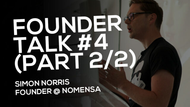 FOUNDER TALK EP4:  Simon Norris (Nomensa)  PART 2 AUDIO ONLY!  Please download to listen!