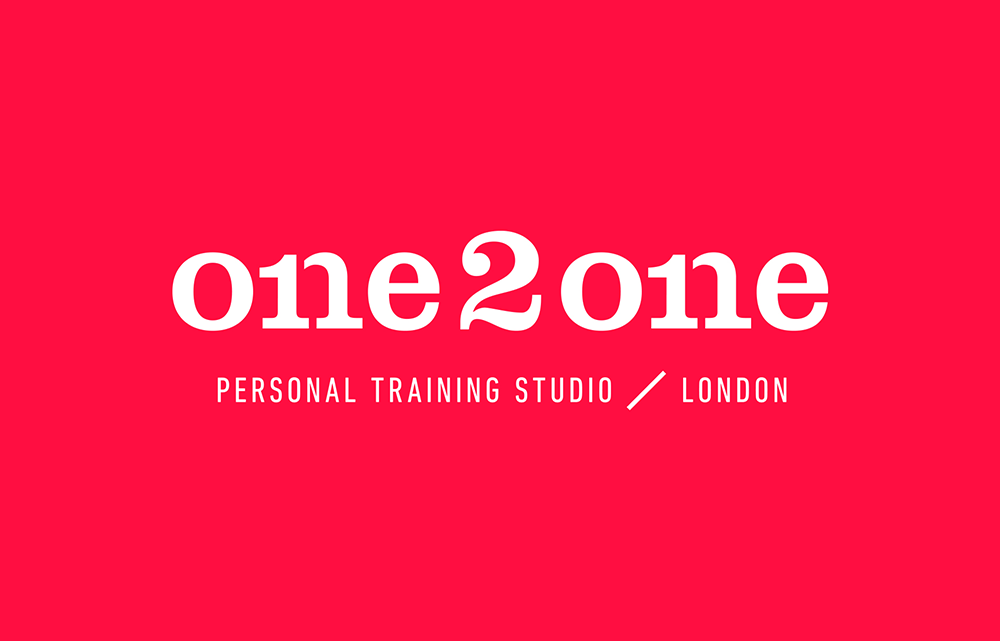 One2One logo in white with a red background