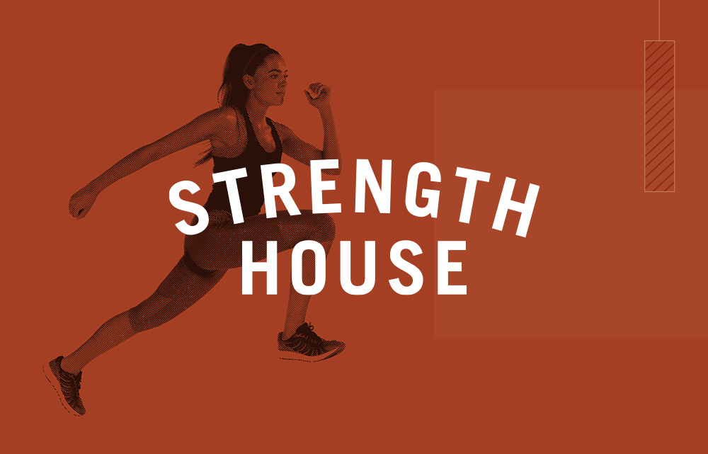 Strength House thumbnail showing logo and running girl