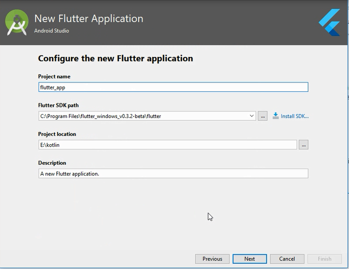 flutter sdk path android studio