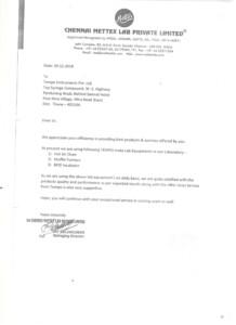 Chennai Mettex lab Pvt Ltd