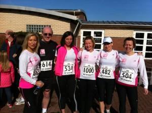 The SoSpa running team on the Fradley 10k 2012