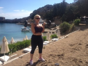 SoSpa Fitness and Fun Holiday Bev on her Pump session