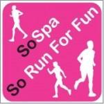 The so run for fun logo. Running club that meet twice the week plus working online