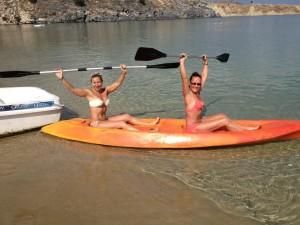 Kayaking in Lindos