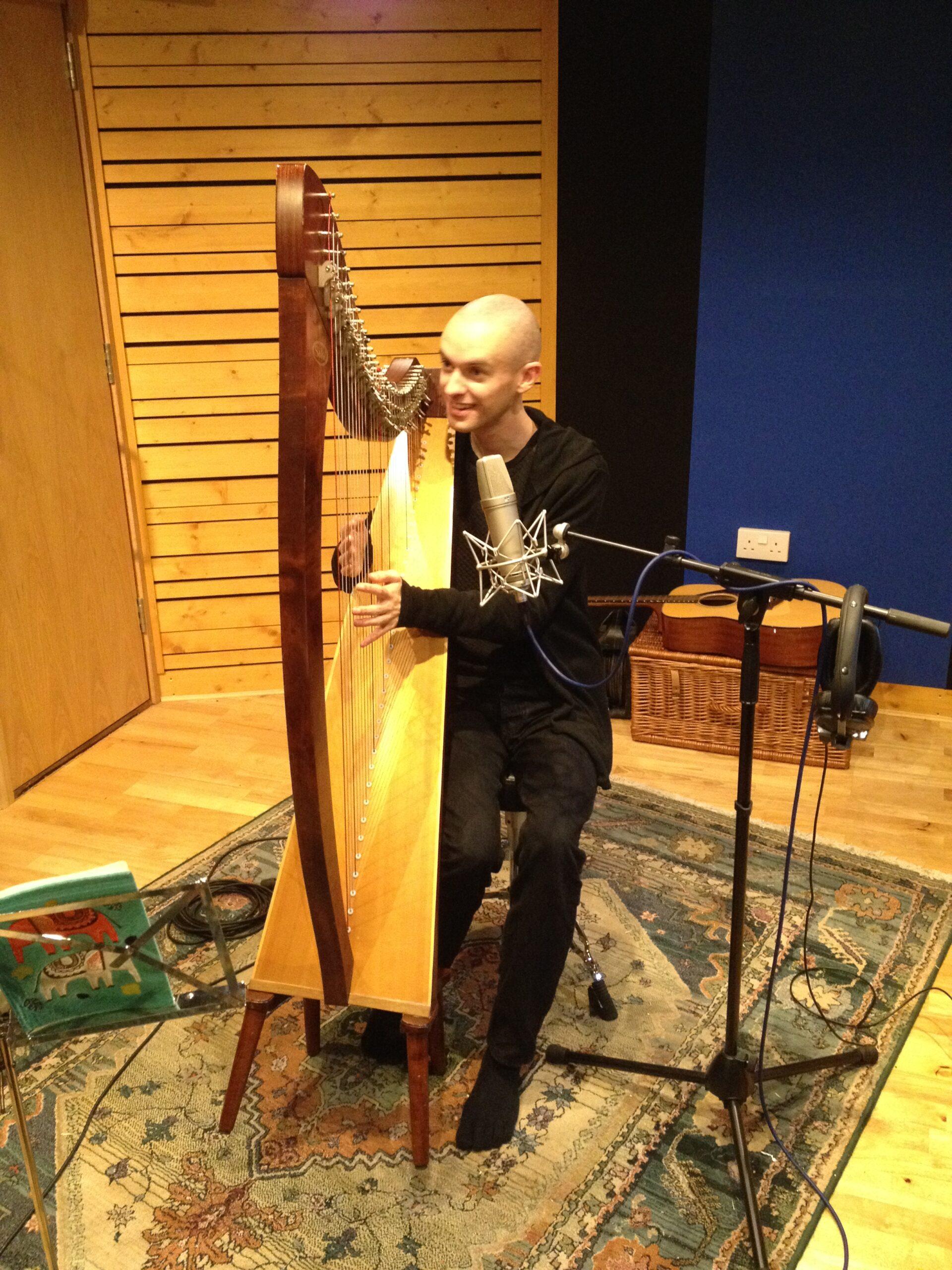 Slipway-Studio_Harp_Recording