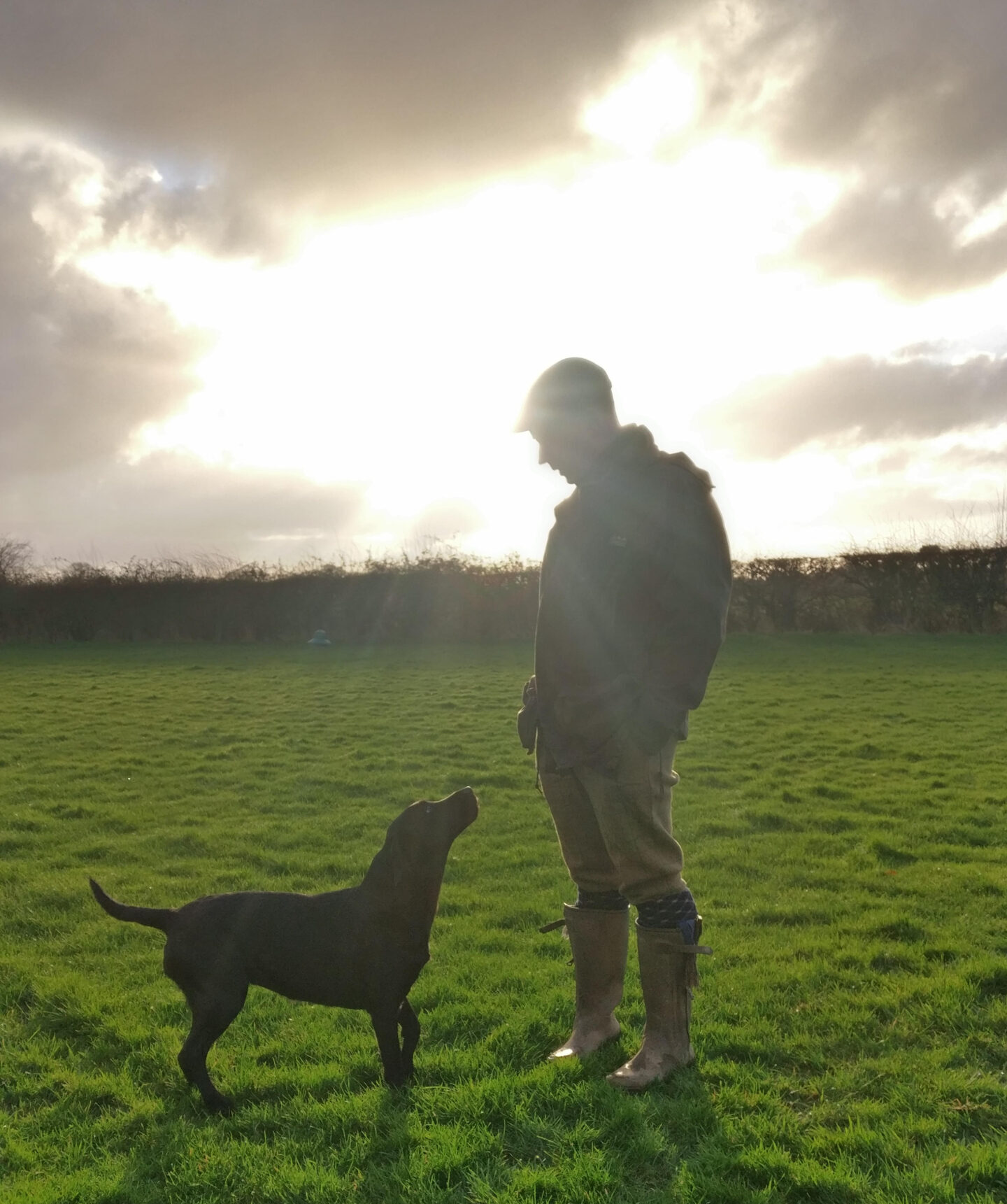 man with dog shotgun and firearms applications and renewals medical reports - Shotgun Medicals