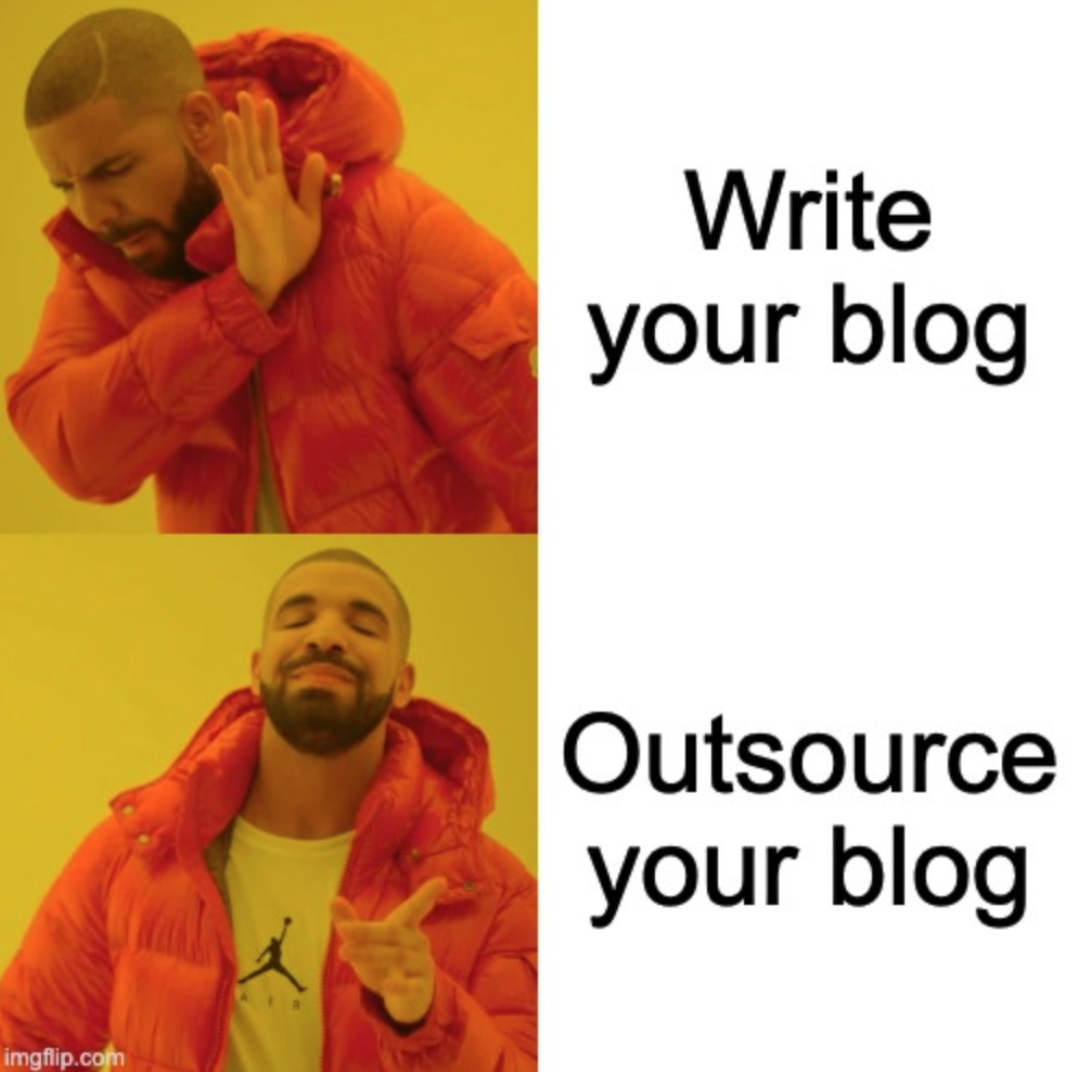 You should outsource your blog