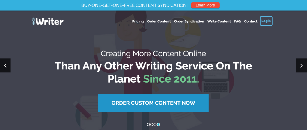 best freelance writing sites - iWriter