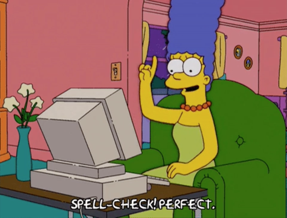 spell check your outline