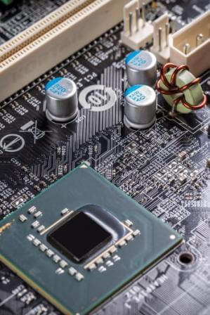 Electronic circuit board with processor socket Jayshree Instruments Pvt. Ltd