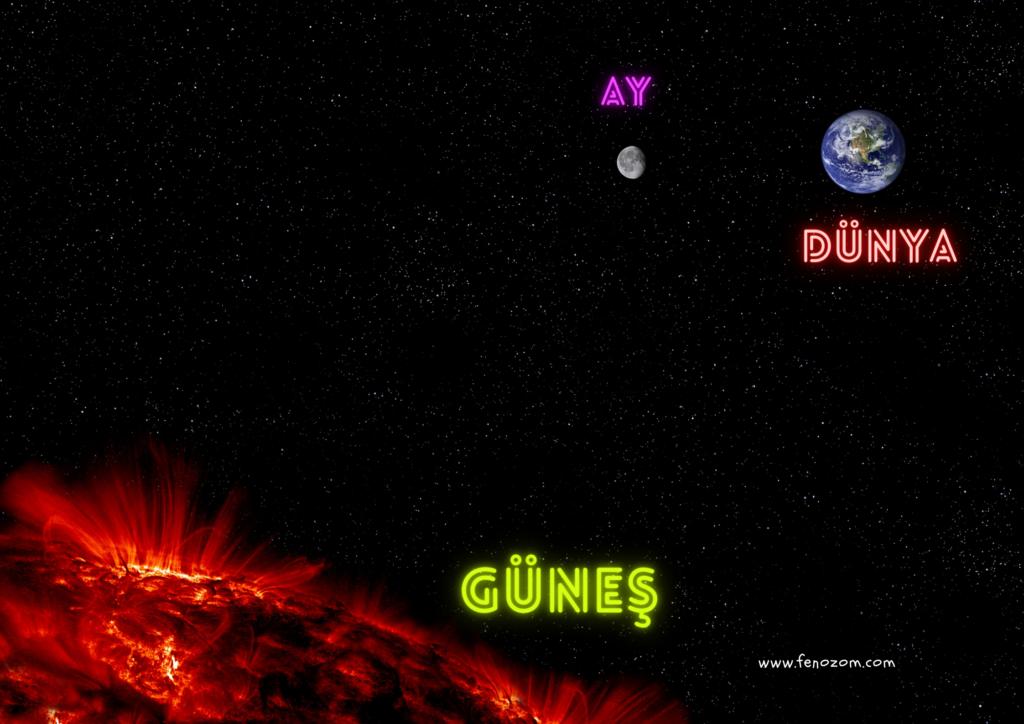 Güneş Dünya Ay Fen Bilimleri 5.sınıf poster