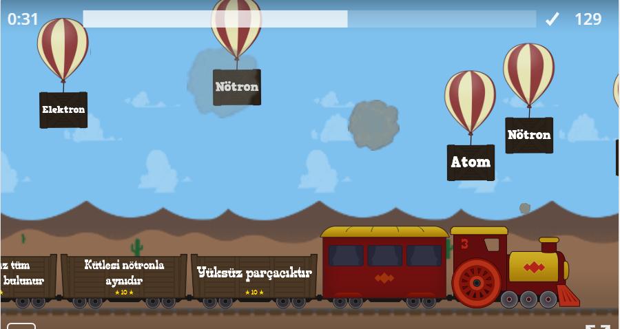 Atomun Yapısı Balon Patlatma Oyunu