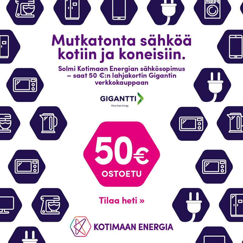 sähkötarjous 3,99 €/kk perusmaksu