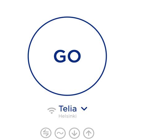 Nopeustesti aloitetaan painamalla GO-painiketta