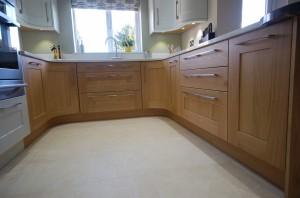 Burbidge Lansdowne Oak and French Gray Painted Oak Traditional Kitchen