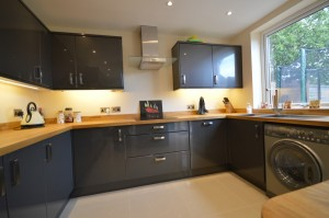Trade Mouldings Slab Gloss Graphite Contemporary Kitchen