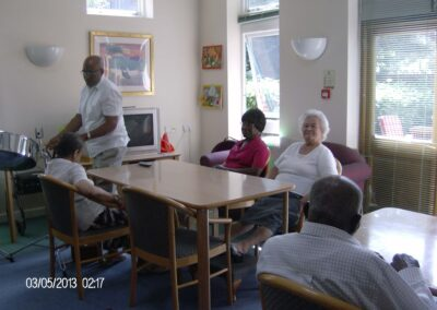 Music being played for clients