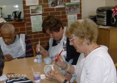 Clients engaged in crafts