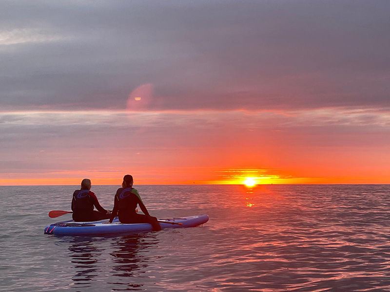 SUP Sunrise and sunset feature image