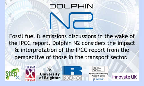 Fossil fuel & emissions discussions in the wake of the IPCC report. Dolphin N2 considers the impact & interpretation of the IPCC report from the perspective of those in the transport sector.