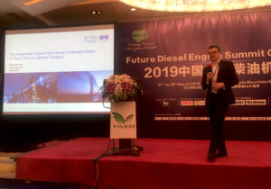 """Last week I had the honour to give the keynote speech and Chair at the Future Diesel Engine Summit in Shanghai. The event brought together 150 on and off highway international industry stakeholders from government, engine and vehicle OEMs, after treatment and technology developers, and consultancies to address the future of the diesel engine."