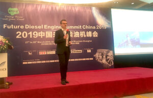 Simon Brewster CEO Dolphin N2 recently Chaired the 2nd day of the Future Diesel Engine Summit, Shanghai on March 28 2019.