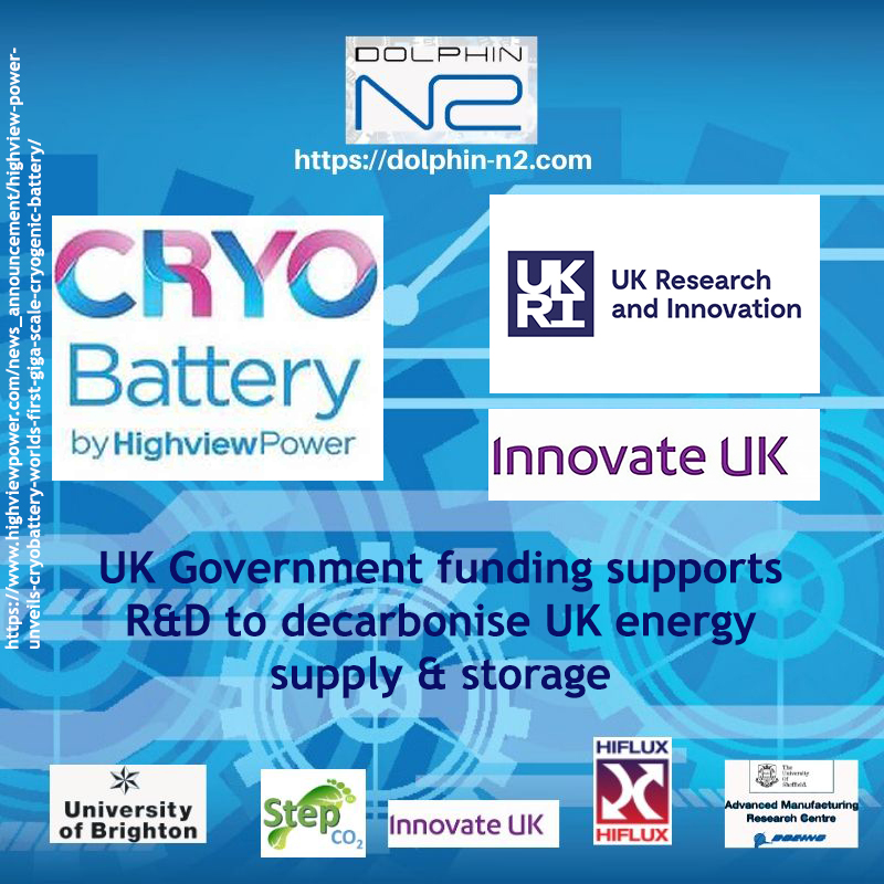 UK Government supports R&D to decarbonise UK energy supply & storage