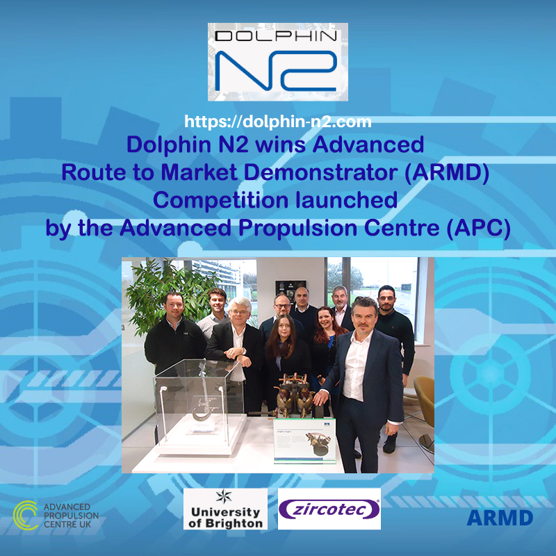 Dolphin N2 wins Advanced Route to Market Demonstrator (ARMD) Competition launched by the Advanced Propulsion Centre (APC)