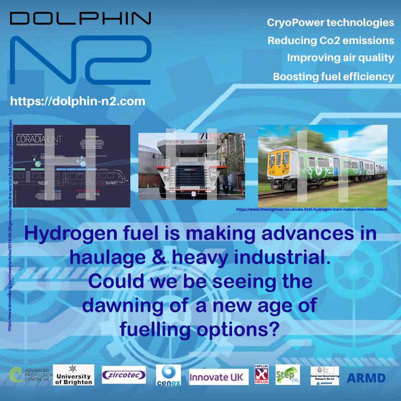 Hydrogen fuel is making advances in haulage & heavy industrial.