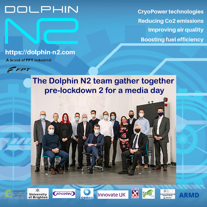 The Dolphin N2 team gather together pre-lockdown 2 for a media day
