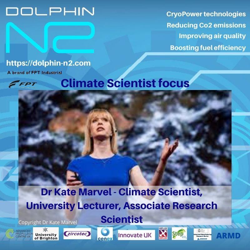 Climate Scientist focus. Dr Kate Marvel - Climate Scientist, University Lecturer, Associate Research Scientist.