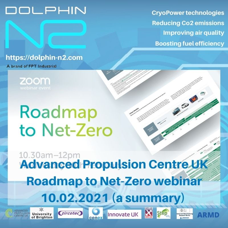 Advanced Propulsion Centre UK Roadmap to Net-Zero webinar (a summary) 10.02.2021