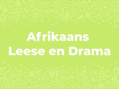 Afrikaans First Additional Language Grade 12 Onderwêreld en Mis