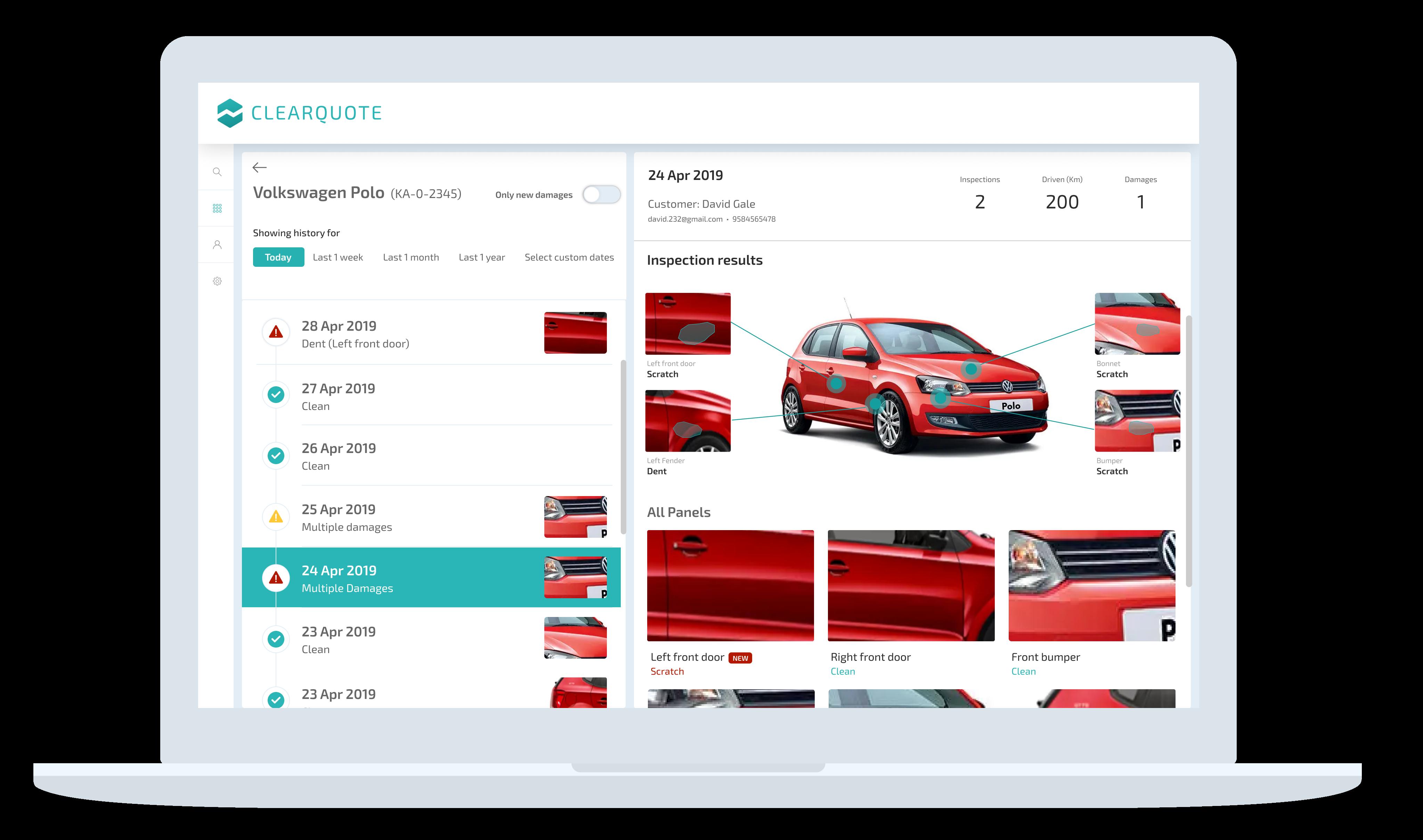 ClearQuote Fleet dashboard