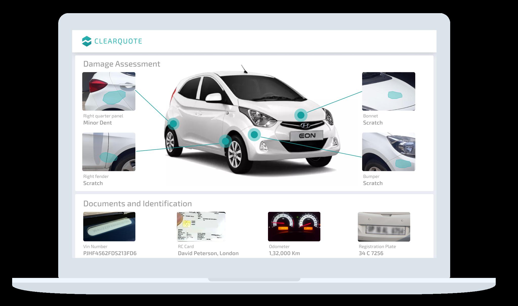 Insurance Vehicle Inspection dashboard