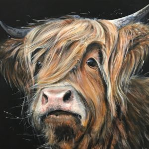Duncan Highland Cow Animal Art Pankhurst Cards and Gifts