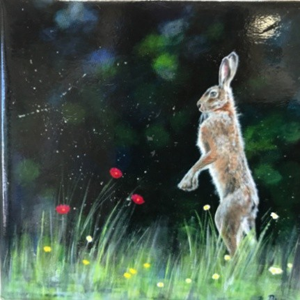 Lone Hare Animal Art Gift Magnet Pankhurst Cards and Gifts