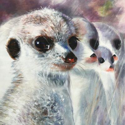 Neighbourhood Watch Meerkat Animal Art Pankhurst Cards and Gifts