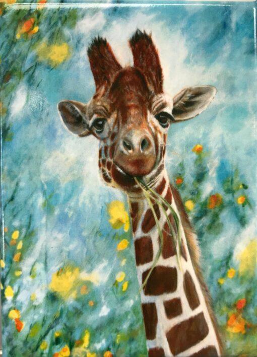 Giraffe Prudence Animal Art Gift Magnet Pankhurst Cards and Gifts