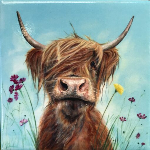 Highland Cow Ronald Magnet Gift Pankhurst Cards and Gifts