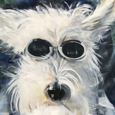 Stevie Rider, Westie Dog greeting Card Pankhurst Cards and Gifts