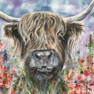 Teddy Highland Cow Art Pankhurst Cards and Gifts