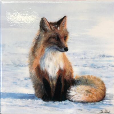 Red Fox Wistful Thinking Animal Art Gift Magnet Pankhurst Cards and Gifts