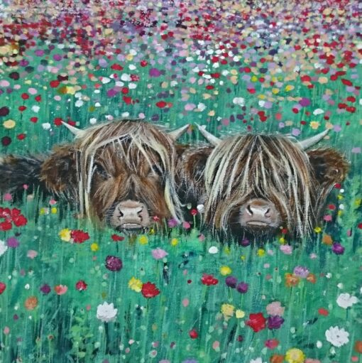 Highland Cow Brotherly Love Art Pankhurst Cards and Gifts
