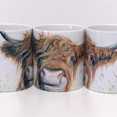 Highland Cow Alfie Mug Gift Pankhurst Cards and Gifts