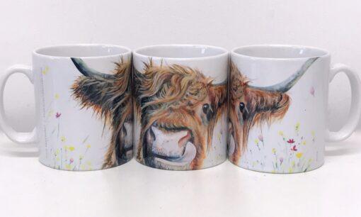 Highland Cow Alfie Mug Gift Pankhurst Cards and Gifts