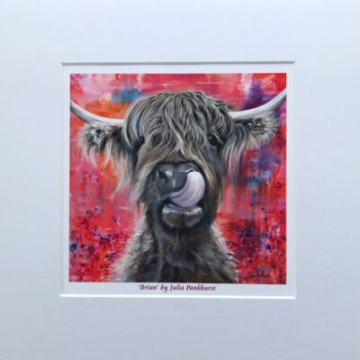 Highland Cow Brian Art Print Gift Pankhurst Cards and Gifts