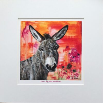 Dave Donkey Animal Art Print Gift Pankhurst Cards and Gifts